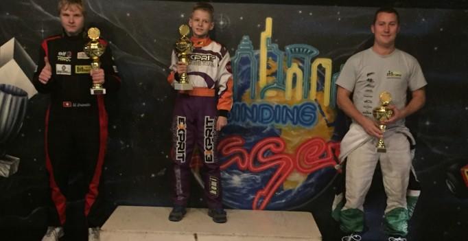 Siegerpodest GP Waldshut 19.11.16 Swiss Karting League